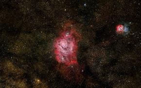 Картинка в созвездии, Стрельца, Туманность Лагуна, Lagoon Nebula