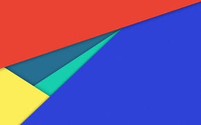 Картинка линии, синий, желтый, красный, геометрия, material