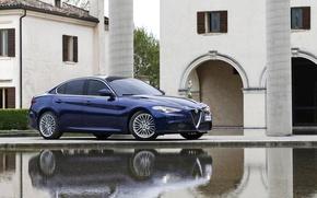 Картинка Синий, Alfa Romeo, Blue, Альфа Ромео, Giulia