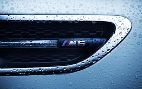 Картинка капли, макро, бмв, BMW M5