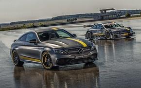Картинка Mercedes-Benz, Coupe, 2014, AMG, C 63, C-Class, мерседес, амг, C205