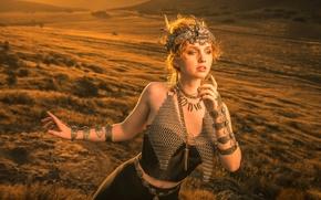 Картинка девушка, украшения, поза, стиль, настроение, Alexandria Basso