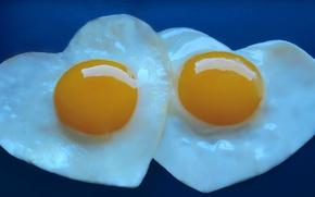 Картинка яйца, сердечки, глазунья