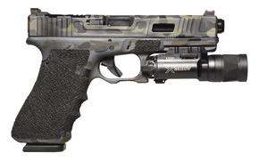 Картинка пистолет, Австрия, фонарик, Glock, самозарядный