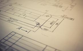 Картинка макро, схема, чертеж, цифры, линий, lines, macro, 2560x1600, numbers, scheme, layout