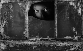 Обои взгляд, девушка, окно