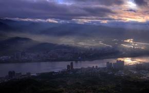 Картинка ночь, город, Taiwan, Taipei City