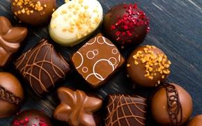 Картинка фото, Шоколад, Конфеты, Сладости, Еда
