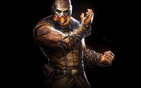 Картинка Взгляд, Маска, Ниндзя, Скорпион, DLC, Экипировка, Warner Bros. Interactive Entertainment, NetherRealm Studios, Mortal Kombat X