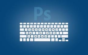 Картинка клавиши, клавиатура, photoshop, adobe