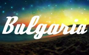 Картинка пляж, космос, звезды, надпись, Болгария