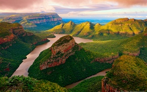 Обои южная африка, blyde river, река, горы, скалы