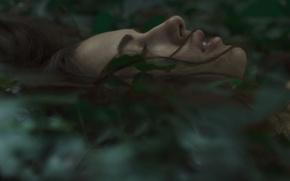 Картинка девушка, лицо, мистика, тайна, загадка, профиль