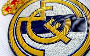 Картинка футбол, лого, эмблема, real madrid, нашивка