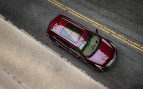 Картинка разметка, Cadillac, вид сверху, 2017, XT5
