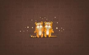 Картинка звезды, улыбка, подарки, тигры