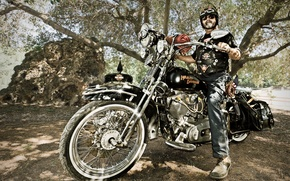 Картинка стиль, мотоцикл, байкер, Harley-Davidson