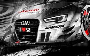 Картинка ауди, рисунок, DTM, motorsport, audi rs5 dtm 2013
