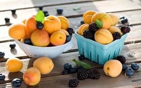 Картинка ягоды, ежевика, абрикосы, голубика