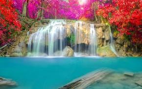 Обои waterfall, nature, water, autumn, водопад, пейзаж
