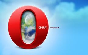 Картинка буква, it's my world, opera