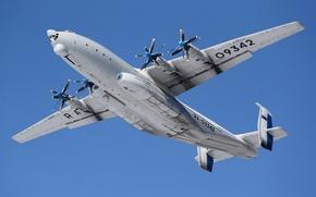 Картинка полет, самолёт, тяжелый, транспортный, турбовинтовой, Ан-22, «Антей»