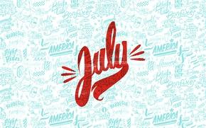 Обои july, июль, summer, america