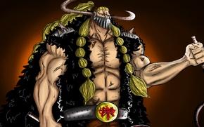 Картинка skull, sword, blood, game, One Piece, horns, pirate, anime, katana, ken, assassin, asian, mask, manga, …