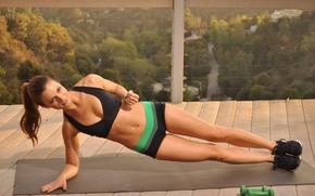 Обои fitness, brunette, workout