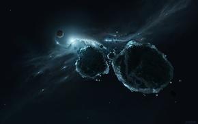 Картинка space, rocks, meteorites