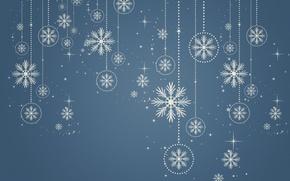 Картинка снег, снежинки, фон