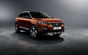 Картинка фон, Peugeot, пежо, кроссовер, 3008