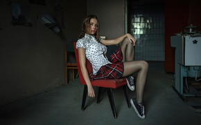 Картинка юбка, блузка, ножки, Георгий Чернядьев, Ксения Кокорева, Kseniya