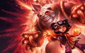 Картинка Annie, panda, League of Legends, Dark Child, lol