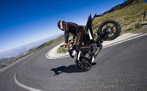 Картинка KTM, байки дорога, мотоциклы 1920x1200, 690 Duke, трюки