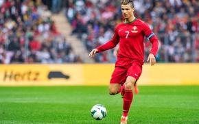 Картинка футбол, форма, Португалия, Cristiano Ronaldo, футболист, football, игрок, Реал Мадрид, Real Madrid, Ronaldo, Роналдо, Кристиано …