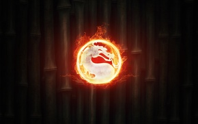 Картинка игры, огонь, знак, бамбук, fire, game, mortal combat, мортал комбат