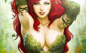 Картинка DC Comics, Poison Ivy, Девушка, Art