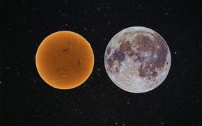 Картинка звезды, Солнце, Супер Луна