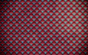 Картинка круги, красное, узор, вектор, синее