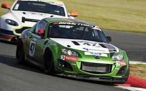 Картинка гонка, тюнинг, Mazda, трек, aston martin, мазда, miata, GT4, MX-5