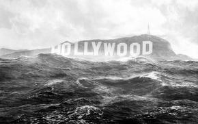 Картинка наводнение, потоп, конец света, hollywood, Hollywood Sign