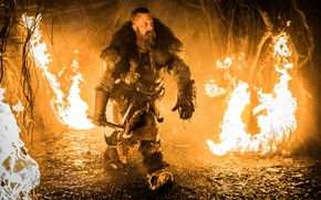Картинка огонь, доспехи, фэнтези, топор, Вин Дизель, приключения, боевик, Vin Diesel, The Last Witch Hunter, Kaulder, ...