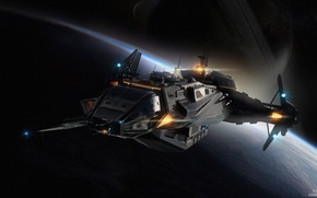 Картинка Star Citizen, space ship, Carrack