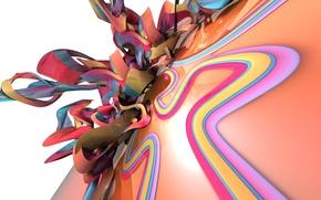 Картинка взрыв, цветные полоски, мэшап