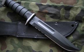 Картинка нож, военный, чехол, холодное оружие