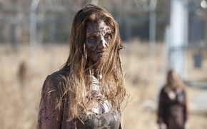 The Walking Dead, zombie, undead, female, makeup обои