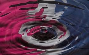 Обои всплеск, вода, волны, цвет, пятно, круг