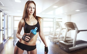 Обои sports drinks, gym, sportswear, physical activity, woman
