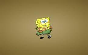 Картинка улыбка, SpongeBob SquarePants, тросник, веселуха, Губка Боб квадратные штаны, гавайская гитара